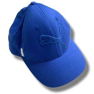 PUMA BLUE BASEBALL CAP WITH 'FlexFit' INNER BAND